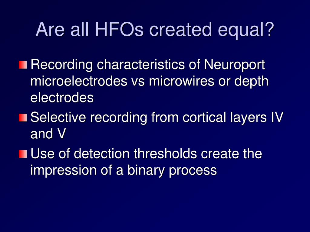 Are all HFOs created equal?