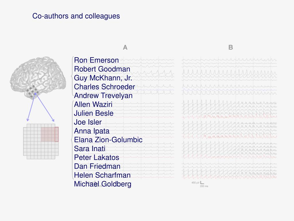 Co-authors and colleagues