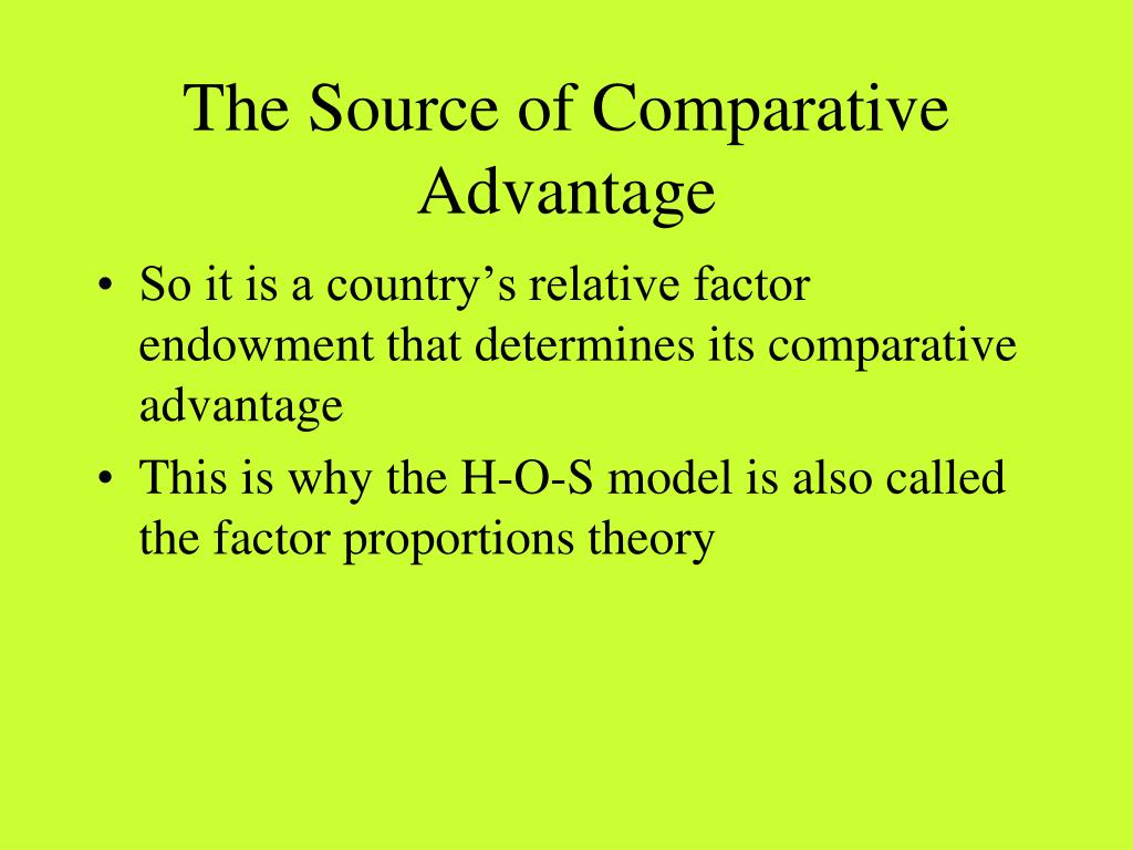 The Source of Comparative Advantage
