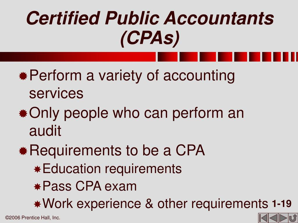 Certified Public Accountants (CPAs)