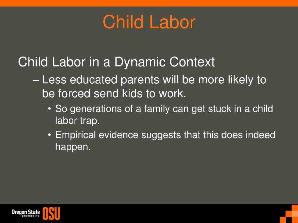 Child Labor in a Dynamic Context