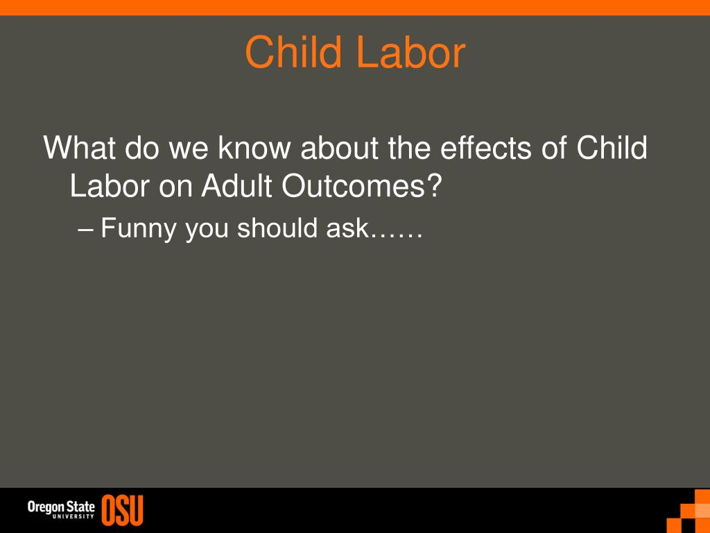 What do we know about the effects of Child Labor on Adult Outcomes?