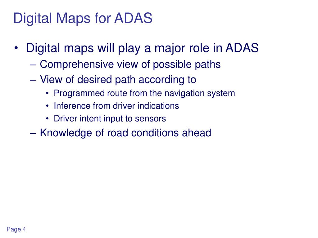 Digital Maps for ADAS