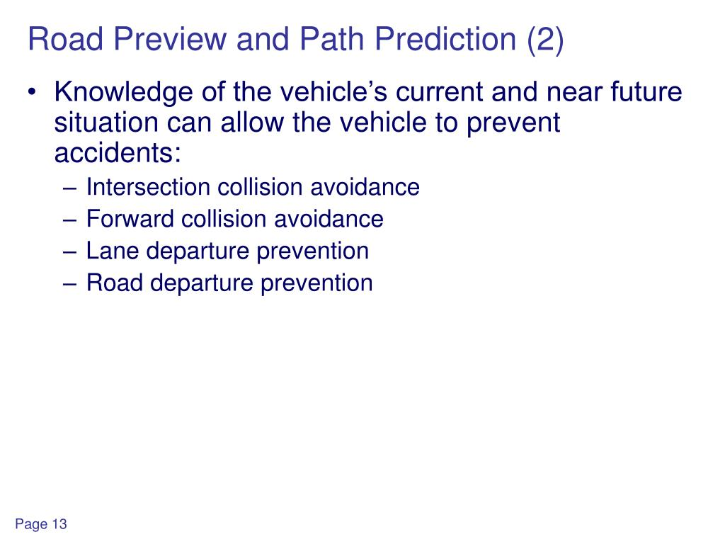 Road Preview and Path Prediction (2)