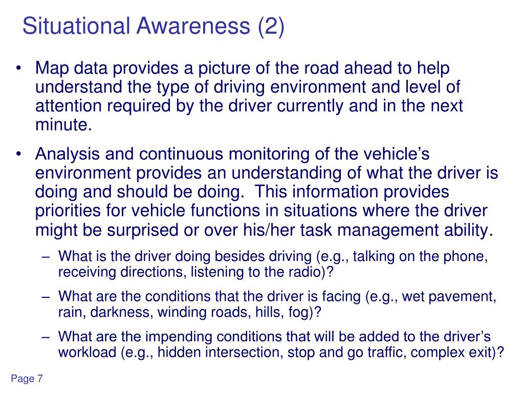 Situational Awareness (2)