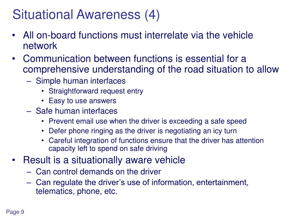 Situational Awareness (4)