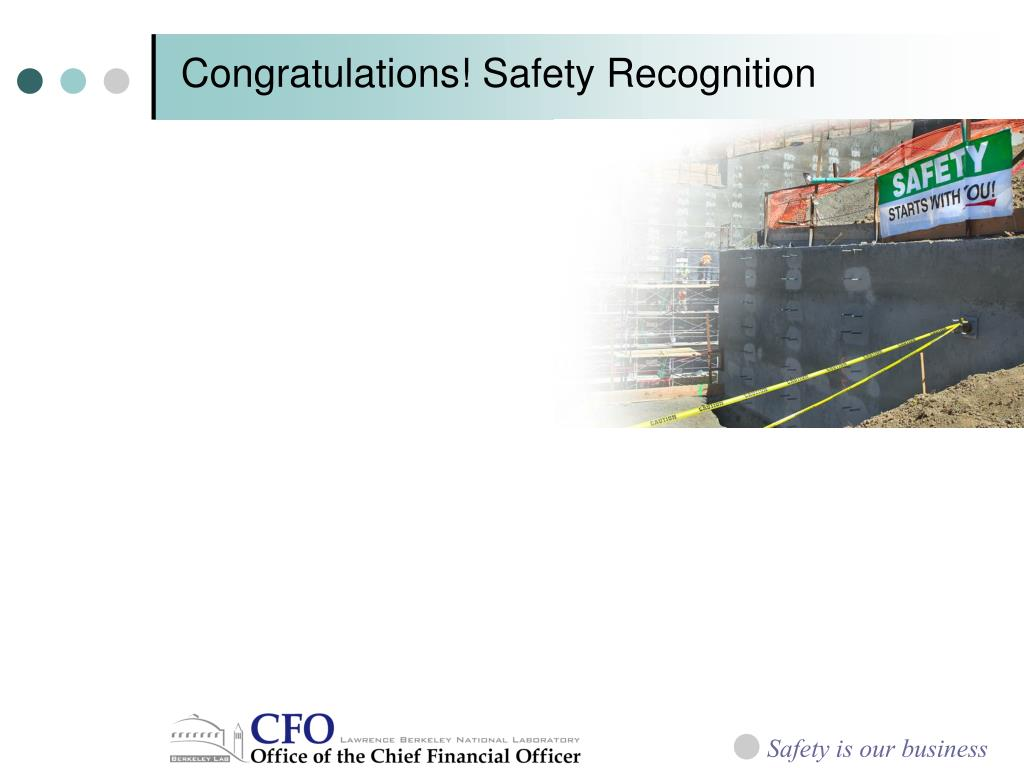 Congratulations! Safety Recognition