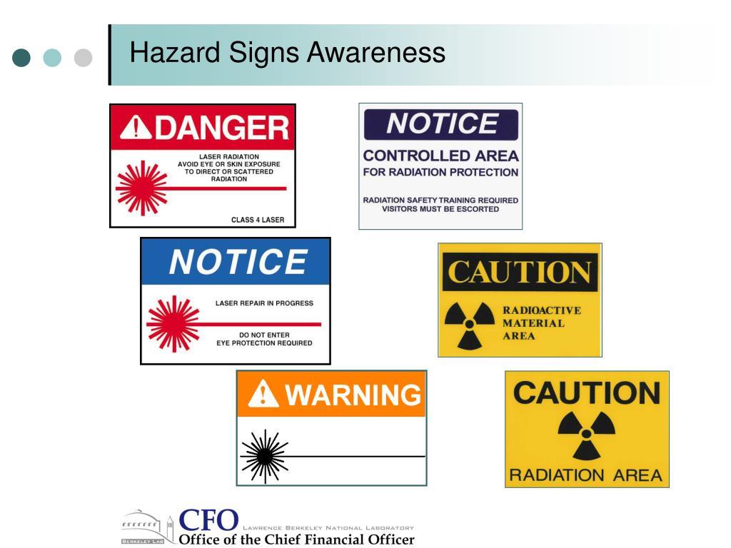 Hazard Signs Awareness