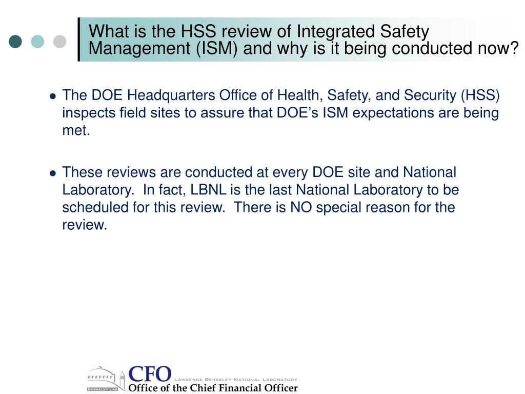 What is the HSS review of Integrated Safety