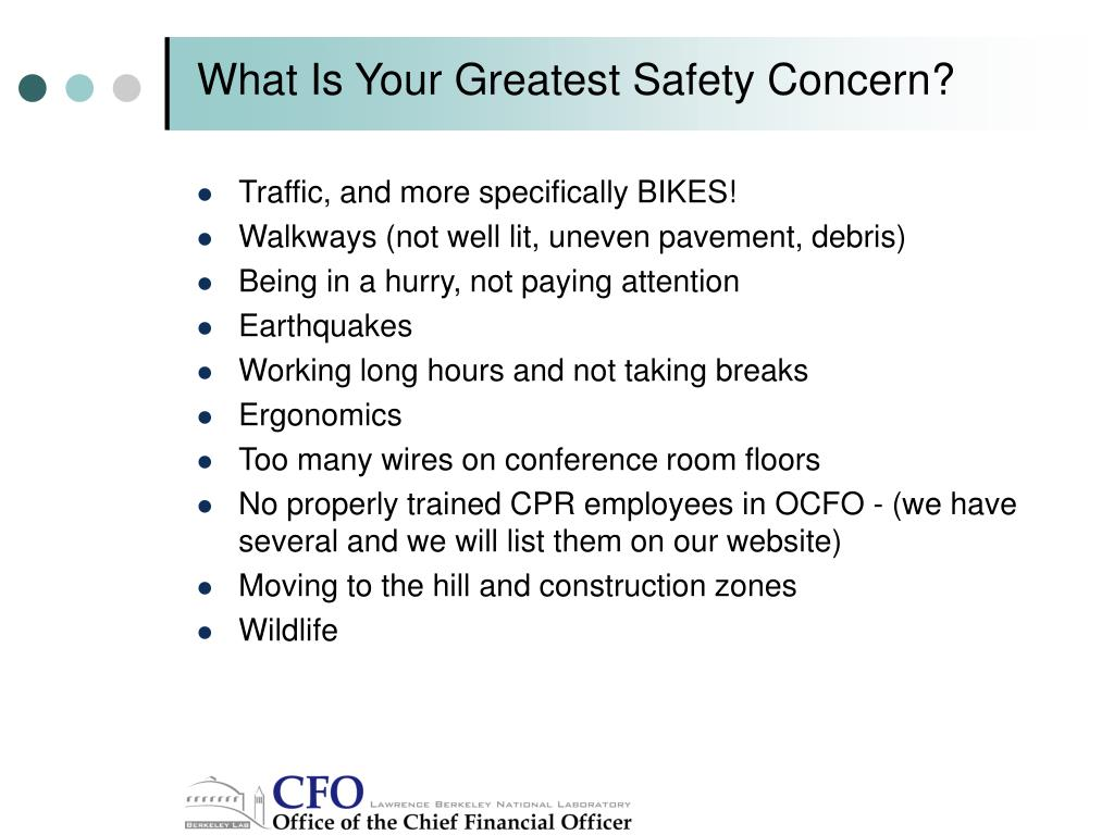 What Is Your Greatest Safety Concern?
