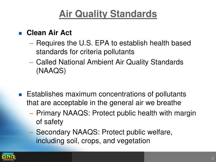 Air quality standards