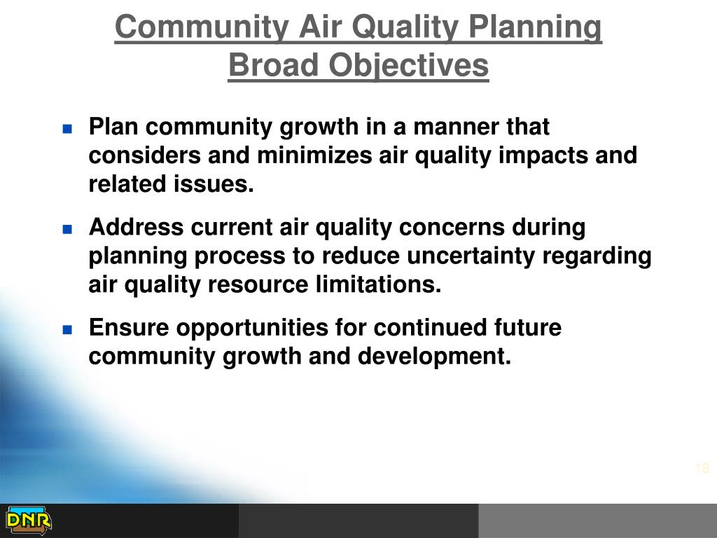 Community Air Quality Planning
