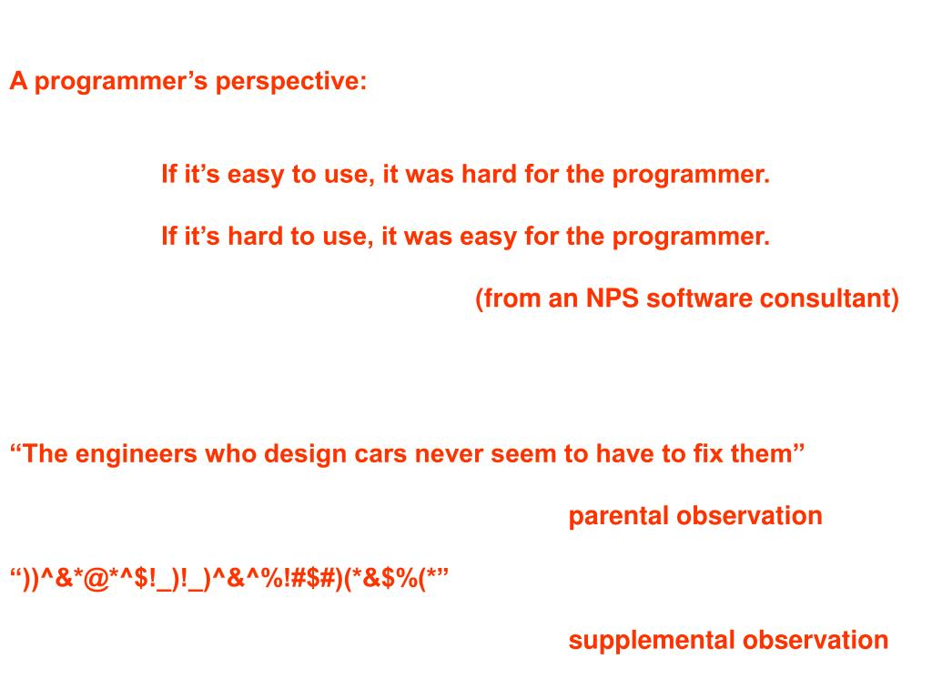 A programmer's perspective:
