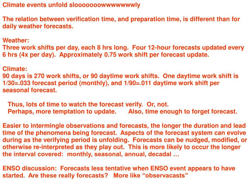 Climate events unfold slooooooowwwwwwwly