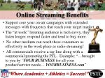 online streaming benefits