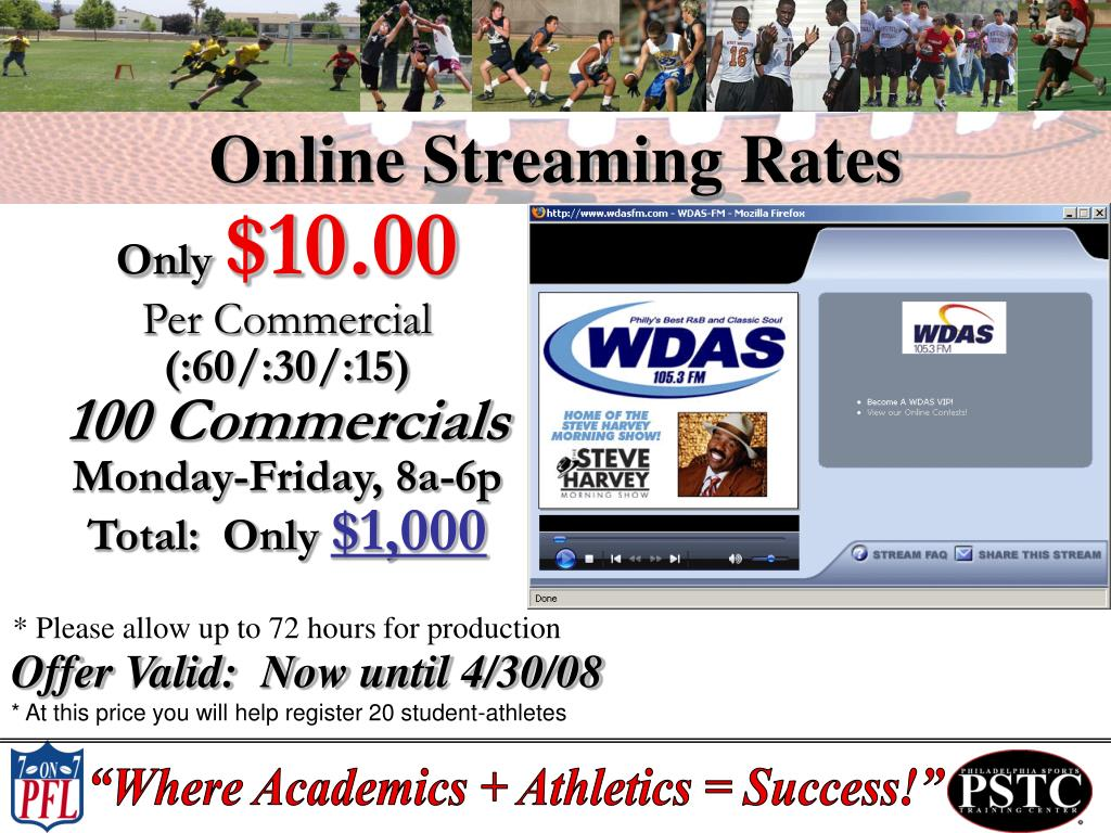 Online Streaming Rates