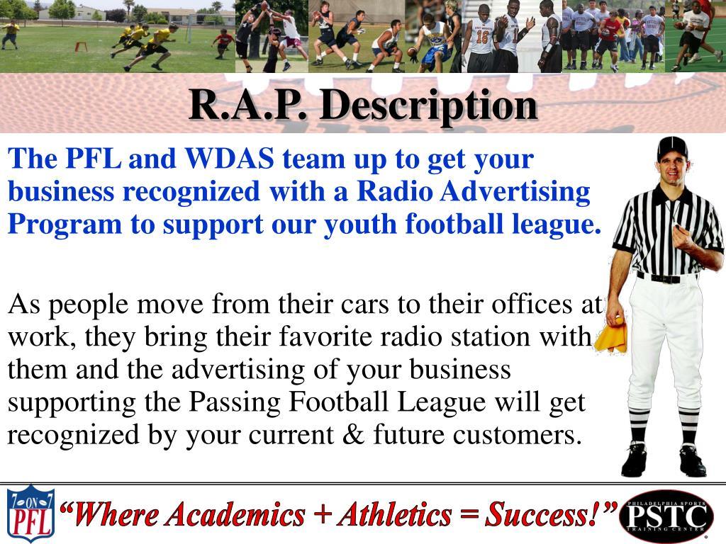 R.A.P. Description