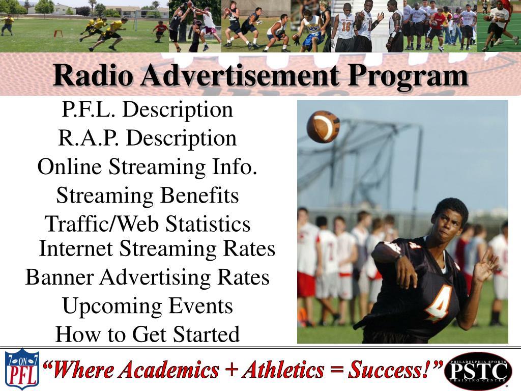 Radio Advertisement Program