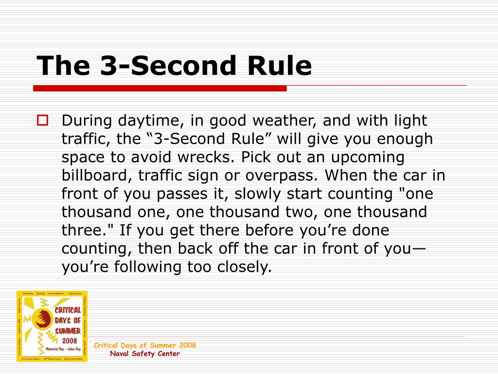 The 3-Second Rule