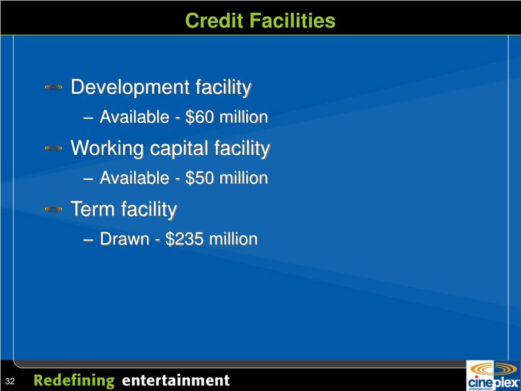 Credit Facilities