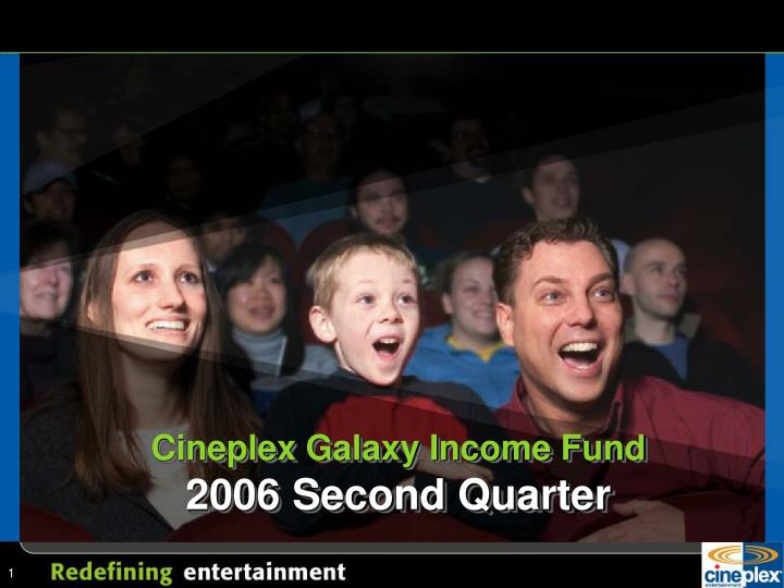Cineplex galaxy income fund 2006 second quarter