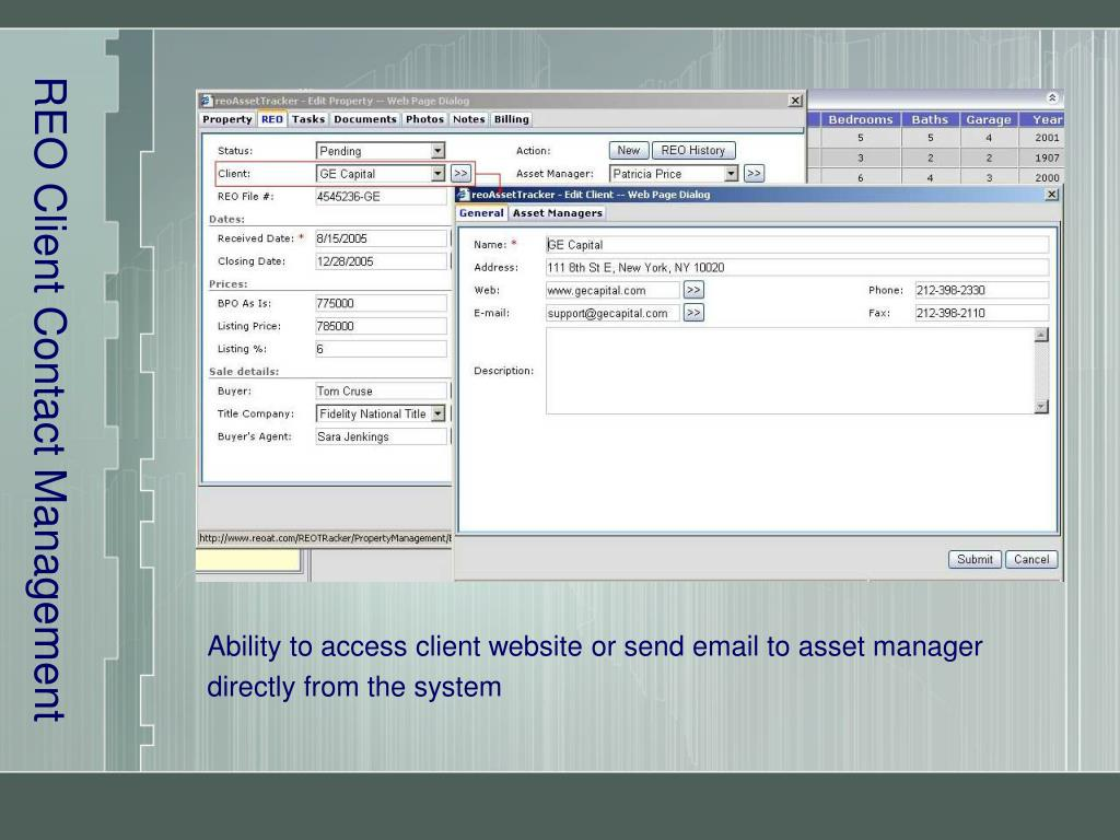 REO Client Contact Management