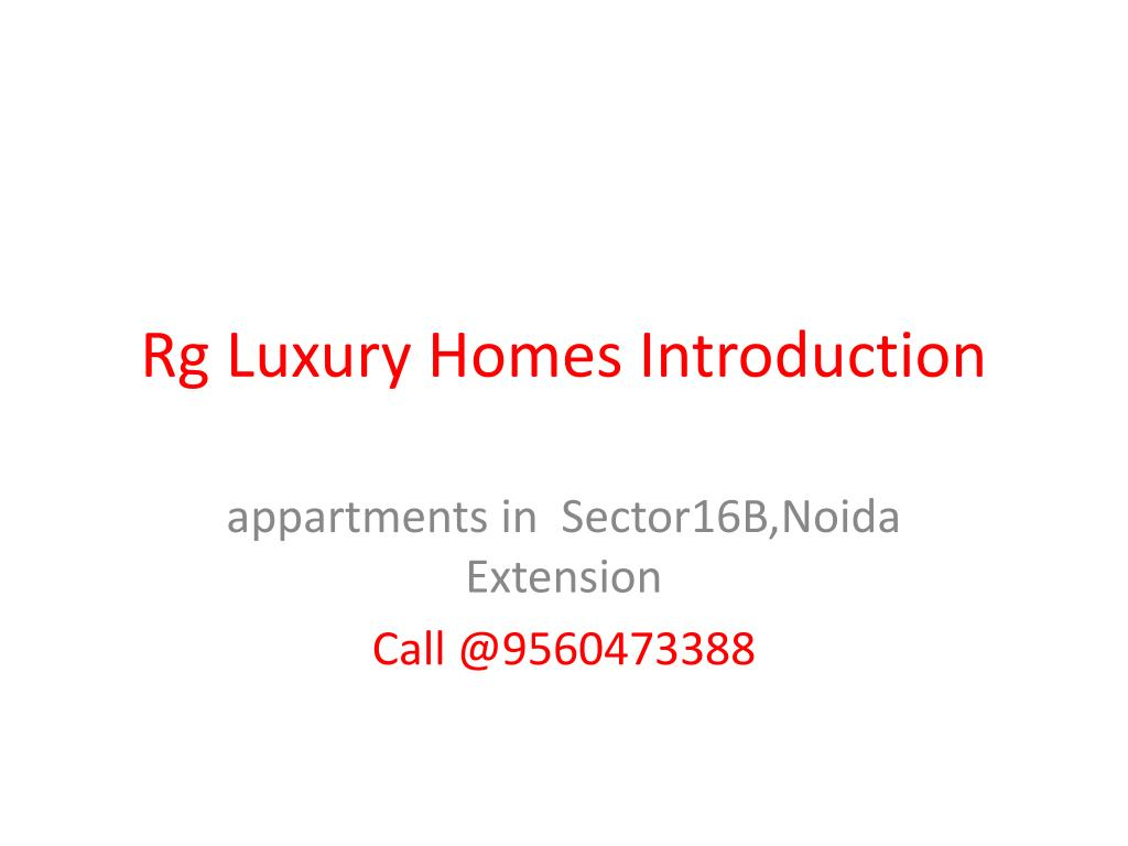rg luxury homes introduction