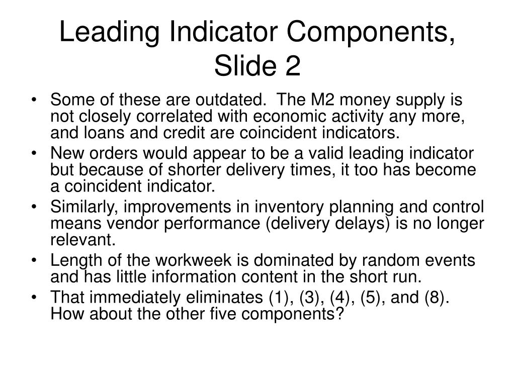 Leading Indicator Components, Slide 2