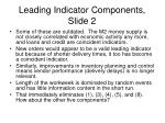 leading indicator components slide 2