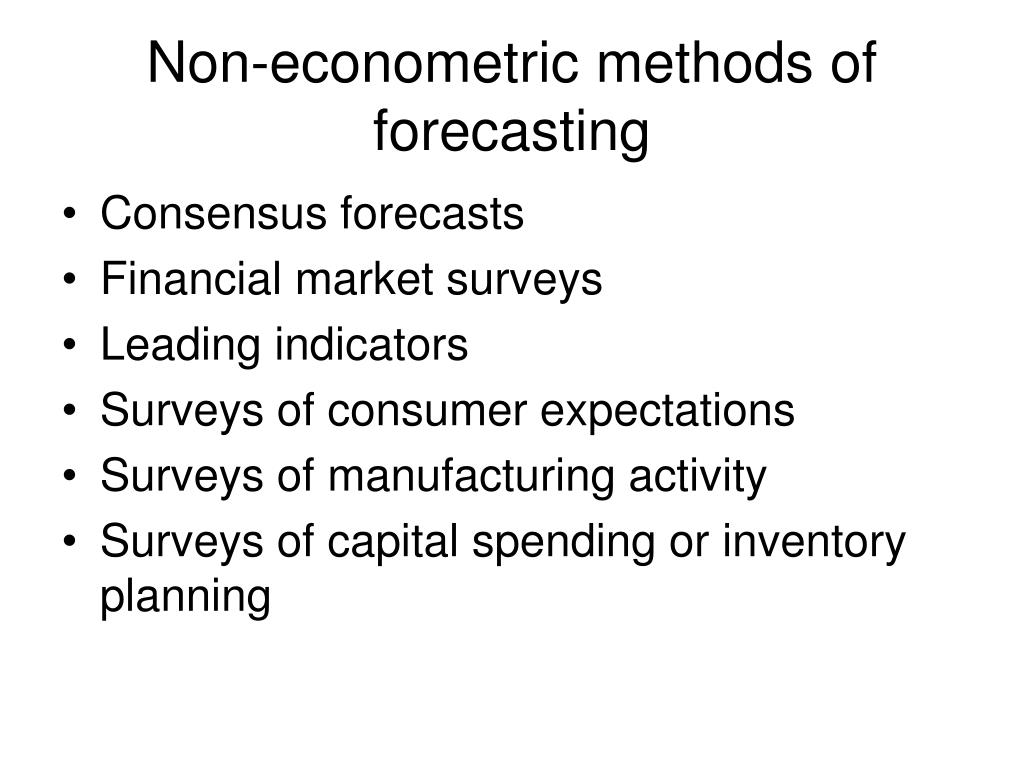 Non-econometric methods of forecasting