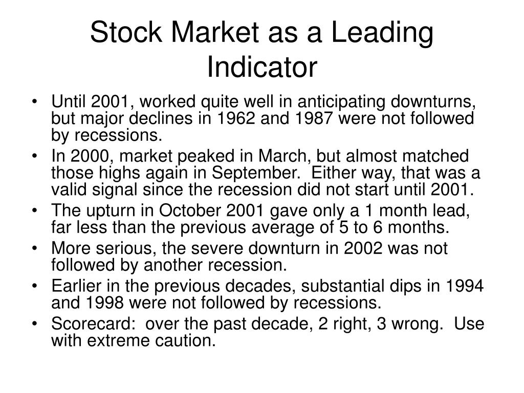 Stock Market as a Leading Indicator