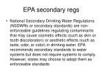 epa secondary regs