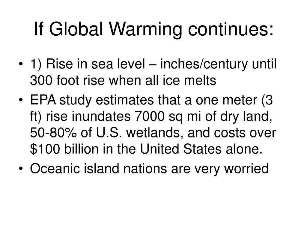 If Global Warming continues: