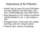 importance of air pollution