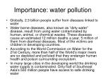 importance water pollution