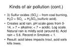 kinds of air pollution cont