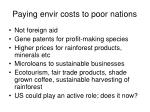 paying envir costs to poor nations