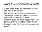 paying true environmental costs