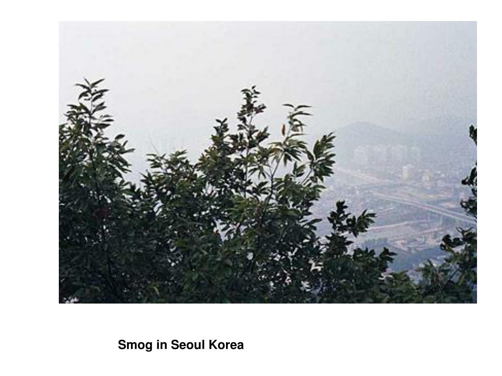 Smog in Seoul Korea