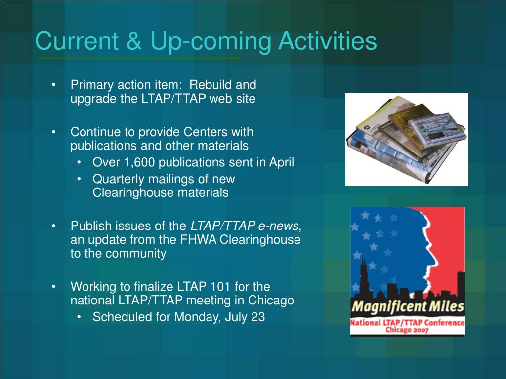 Current & Up-coming Activities