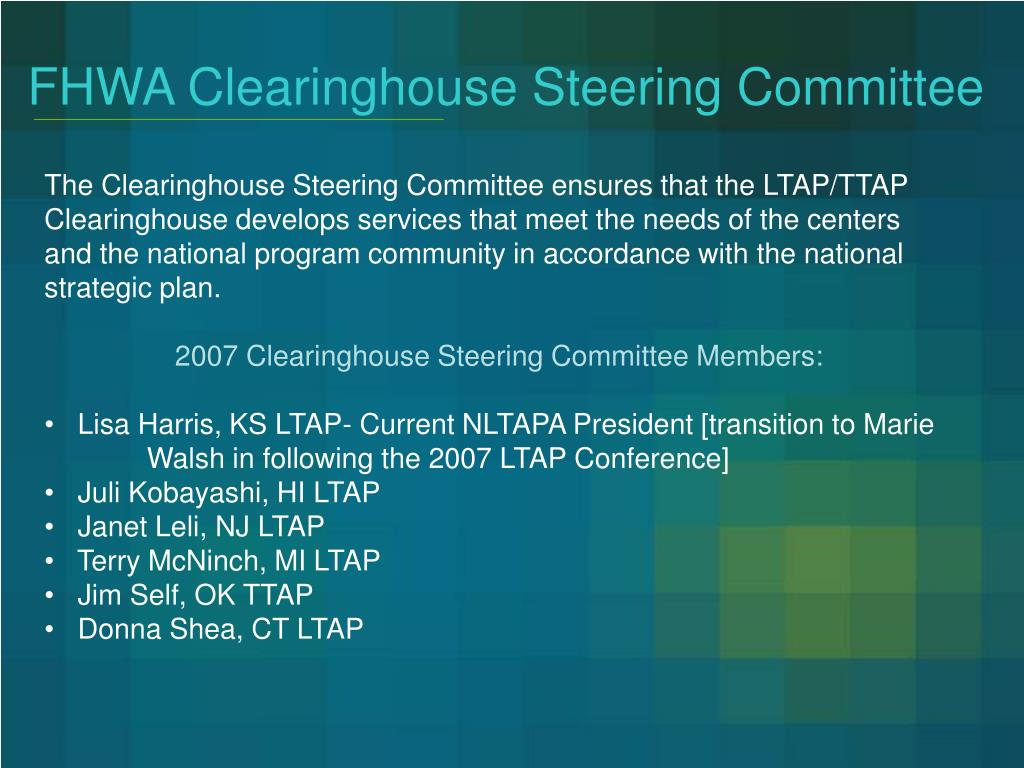 FHWA Clearinghouse Steering Committee