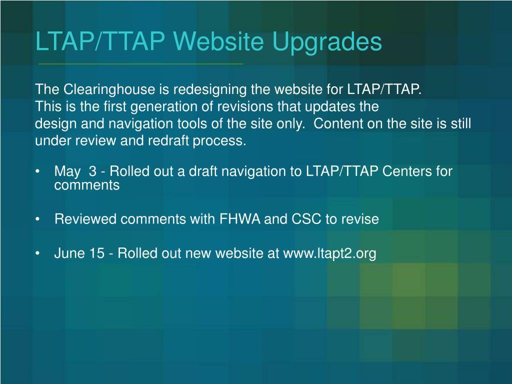 LTAP/TTAP Website Upgrades