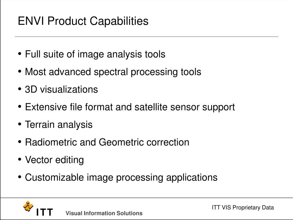 ENVI Product Capabilities