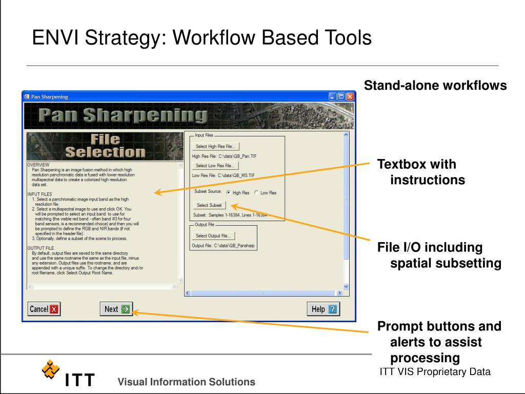 ENVI Strategy: Workflow Based Tools