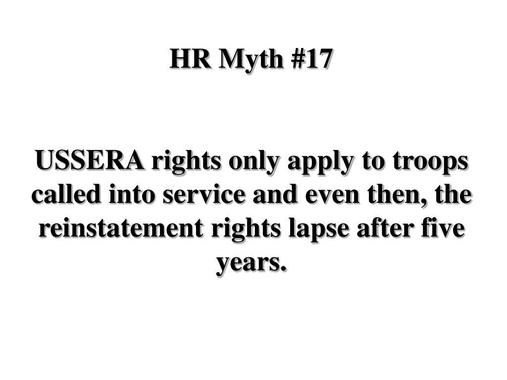 HR Myth #17