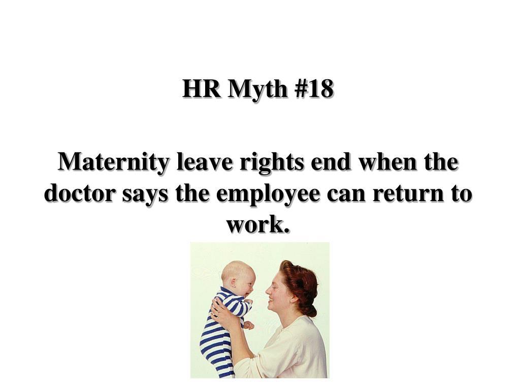 HR Myth #18