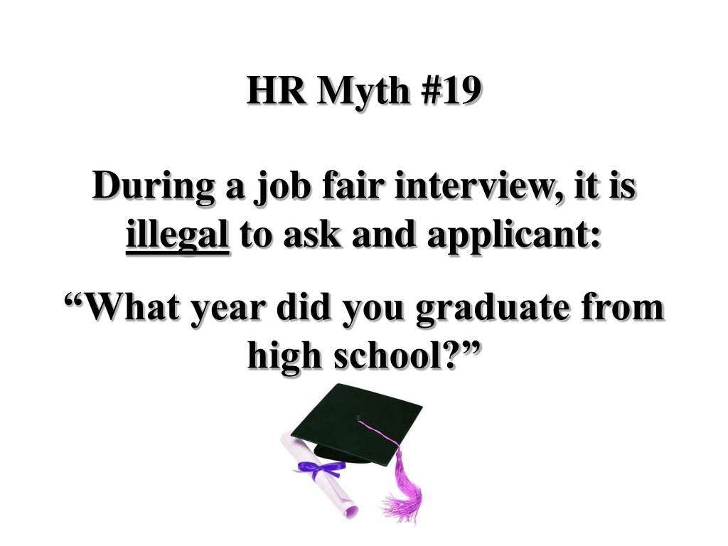 HR Myth #19