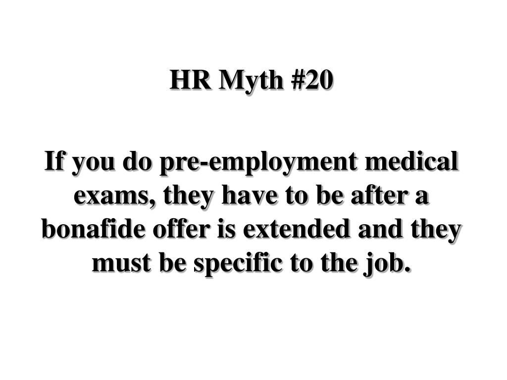 HR Myth #20