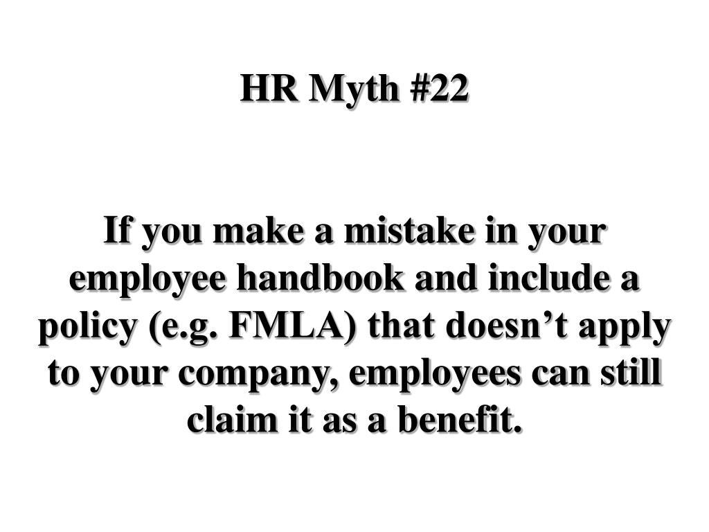 HR Myth #22