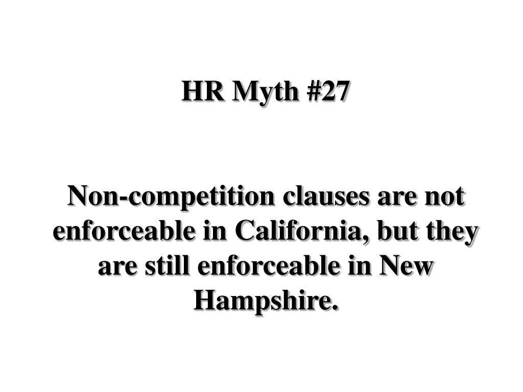 HR Myth #27